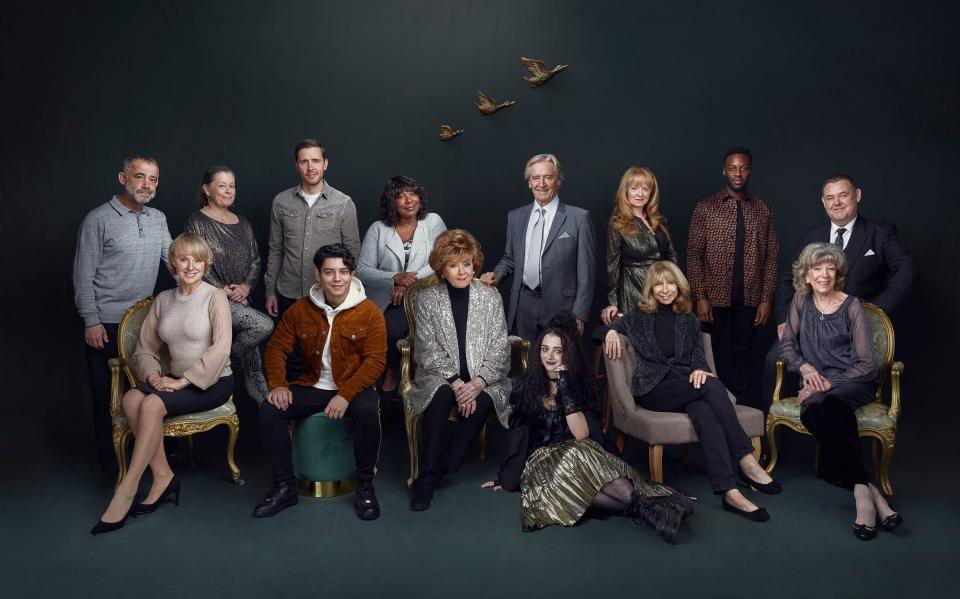 Corrie's longest-serving and newest cast members recently posted for this photo in honour of the show's 60th annniversary (Photo: ITV/PA)