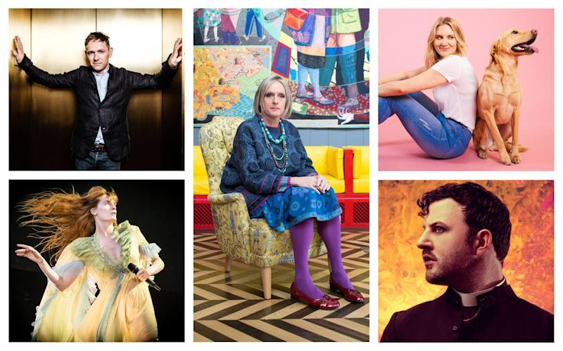 Clockwise from bottom left: Florence + the Machine; Iestyn Davies; Grayson Perry; Anoushka Warden; Ciarán Dowd - Getty/Helen Murray/Chris Sorensen/Katie Hyams/ Living Architecture/Idil Sukan