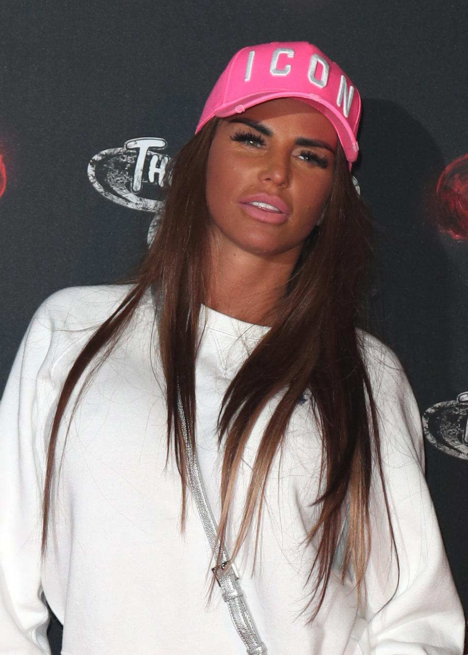 File photo dated 26/09/19 of Katie Price, who said she is registered as disabled and has applied for a blue badge after breaking her feet in a fall during a holiday in Turkey.