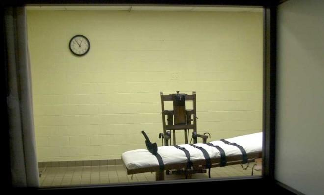 The death chamber at the Southern Ohio Correctional Facility circa 2001.