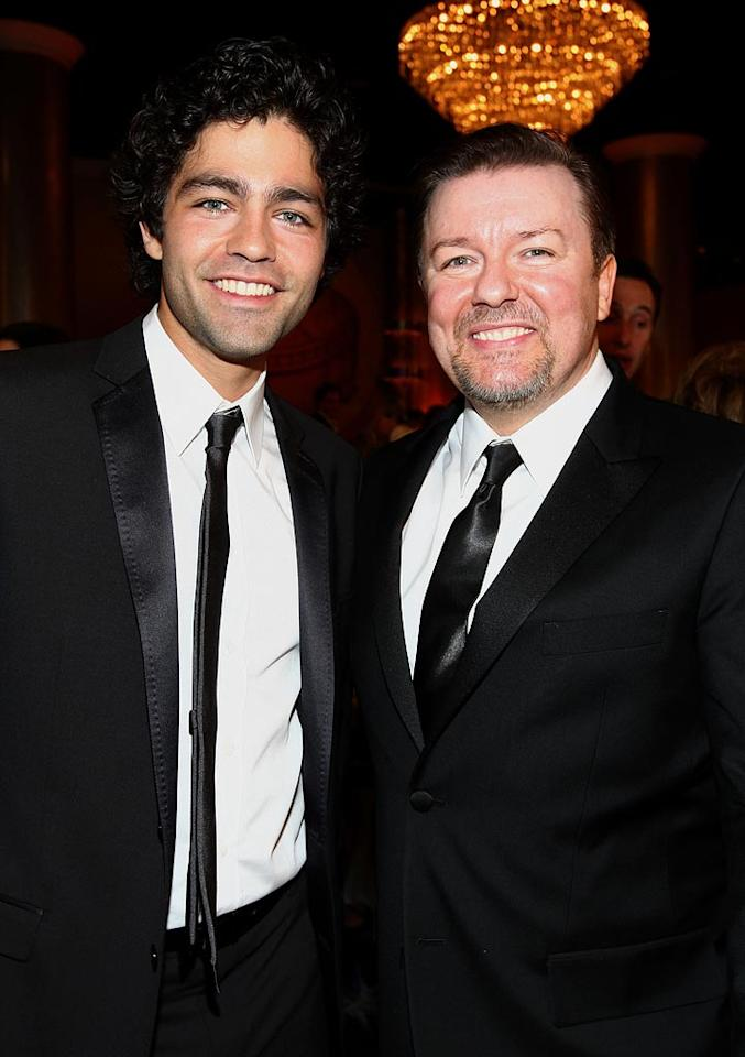 "How fun would it be to party with Adrian Grenier and Ricky Gervais? Alberto E. Rodriguez/<a href=""http://www.gettyimages.com/"" target=""new"">GettyImages.com</a> - January 11, 2009"