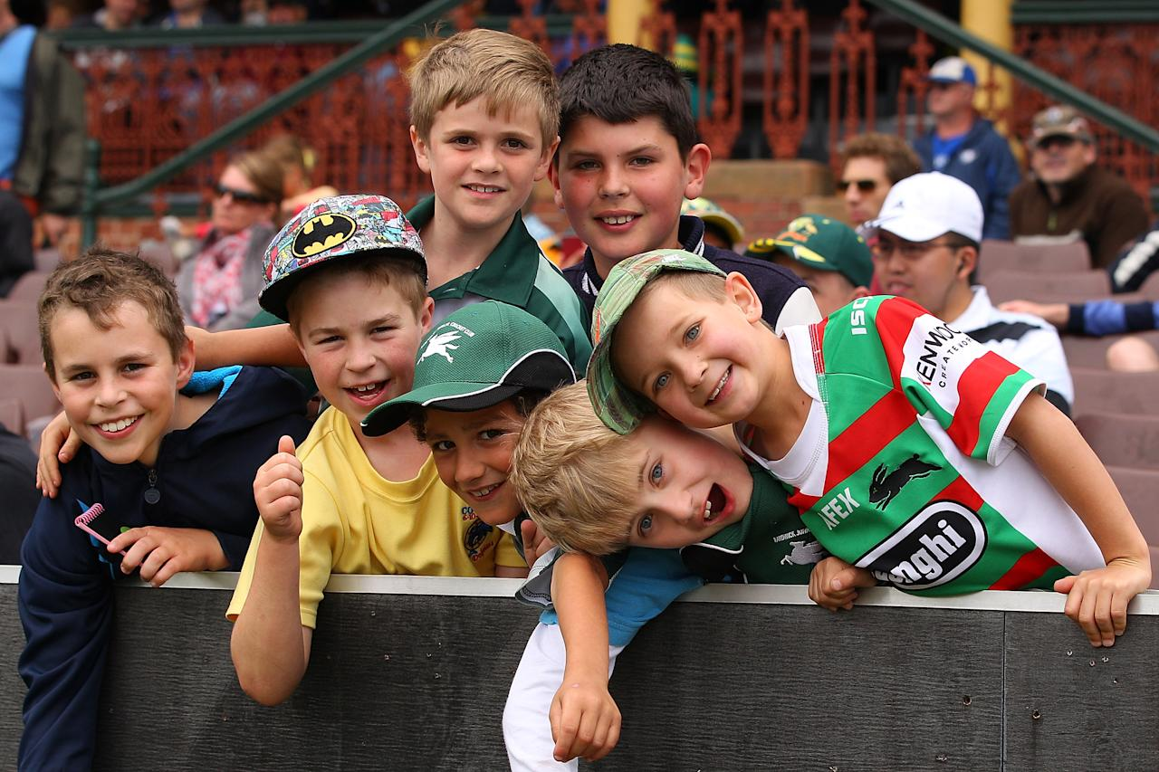 SYDNEY, AUSTRALIA - NOVEMBER 03:  Young fans cheer during day two of the International TOur Match between Australia A and South Africa at Sydney Cricket Ground on November 3, 2012 in Sydney, Australia.  (Photo by Chris Hyde/Getty Images)