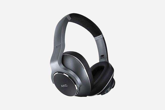 """<p>This entrant from Samsung-owned AKG was clearly meant to take on Bose and Sony's dominance over the noise-canceling market—and it puts up a decent fight. The N700NCs are fantastic headphones: sound characterized by punchy bass and clearly defined treble; all the features beyond just great noise-canceling that we've come to expect, including customizable ambient sound enhancement (in this case called """"Ambient Aware""""); and a comfortable fit for long listening sessions. Unlike their subdued Bose and Sony competitors, these headphones also look pretty wild thanks to a headband with an extra curve and a double-layered design over the ears. Still, the N700NCs don't quite measure up to competitors' overall balance between performance and comfort, even if the actual sound quality comes pretty darn close—and the carrying case is a little too bulky to just slip into a backpack and go. —<em>S.M.</em></p> <p><strong>Battery life:</strong> 20 hours</p> <p><strong>Hits:</strong> Cool design; snug fit (if that's what you're into); high-quality sound and noise-canceling; accessories include two-prong plug adapter</p> <p><strong>Misses:</strong> Carrying case is bulkier than it needs to be; the play/pause button is tiny and hard to find on-the-go</p> <p><strong>Buy now:</strong> <a href=""""https://amzn.to/3arZO4J"""" rel=""""nofollow noopener"""" target=""""_blank"""" data-ylk=""""slk:$82, amazon.com"""" class=""""link rapid-noclick-resp"""">$82, amazon.com</a></p>"""