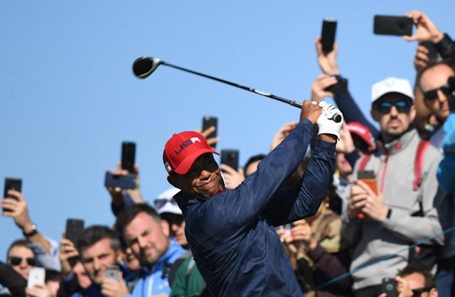 Tiger Woods blames tiredness for his Ryder Cup flop last month (AFP Photo/FRANCK FIFE)