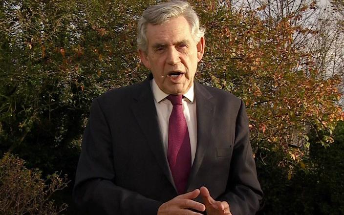 Gordon Brown speaking to the BBC's Andrew Marr -  pixel GRG