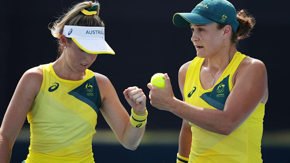 Storm Sanders and Ash Barty claimed an easy win in their first round doubles match in Tokyo.