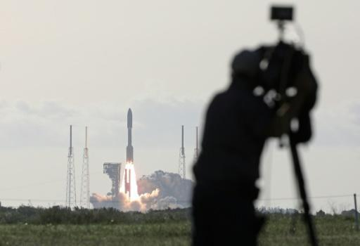An Atlas V rocket with the Perseverance rover lifts off from Launch Complex 41 at Cape Canaveral Air Force Station in Florida