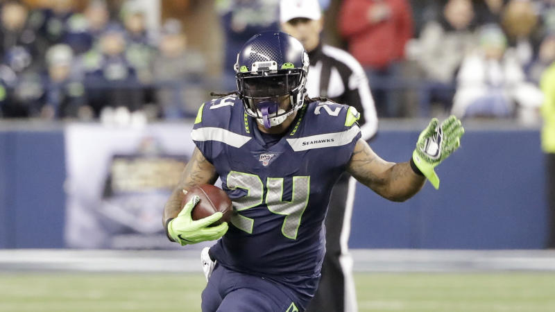 Marshawn Lynch returned late last season when the Seahawks needed depth at running back. (AP Photo/Ted S. Warren)