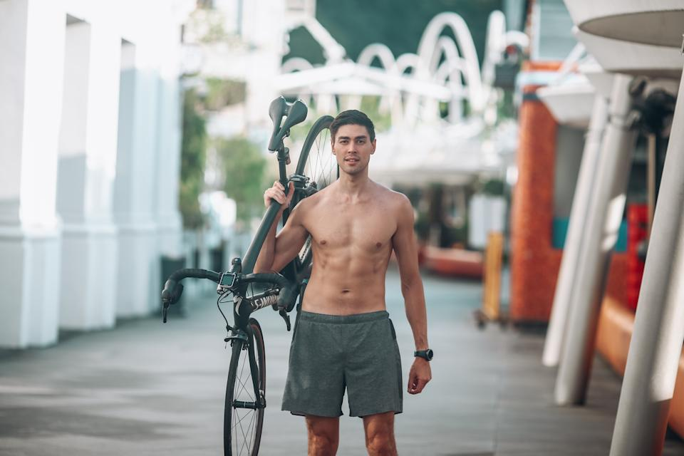 Dan changed his lifestyle after gaining too much weight, and decided to cut out meat and taking up cycling to lose weight.