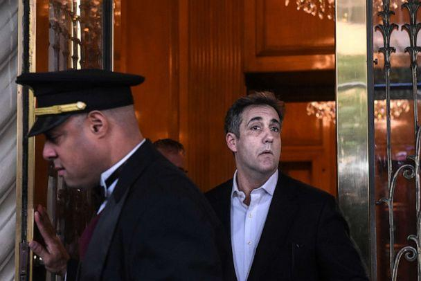 PHOTO: Michael Cohen, former personal lawyer to President Donald Trump, exits his home in New York, May 6, 2019. (Stephanie Keith/Bloomberg via Getty Images)