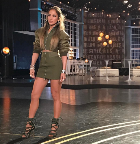 <p>You have to admit J LO's structured bomber jacket looks FIERCE. [Photo: JLO/ Instagram] </p>