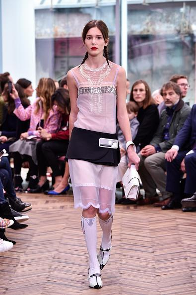 <p>A model walks the runway at the Prada Resort Collection 2018 show at Osservatorio Prada in Milan. (Photo: Getty Images) </p>