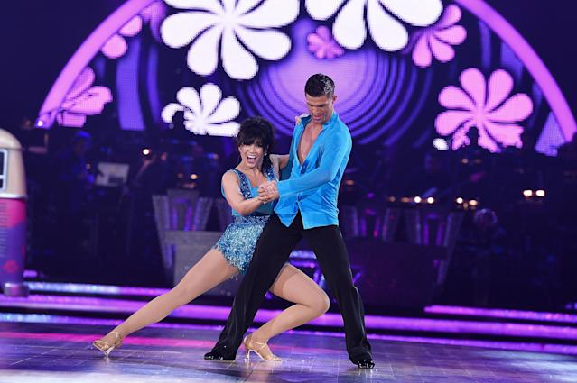 Daisy Lowe and Alijaz Skorjanec took part in the 'Strictly Come Dancing' live tour at the start of 2017. (Getty Images)