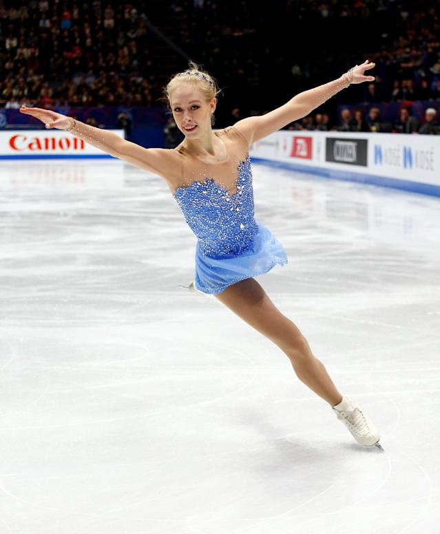 Figure Skating - World Figure Skating Championships - The Mediolanum Forum, Milan, Italy - March 23, 2018 Bradie Tennell of the U.S. during the Ladies Free Skating REUTERS/Alessandro Garofalo