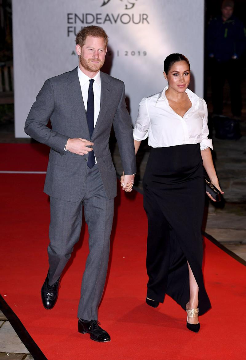 Meghan wearing Givenchy at The Endeavour Fund Awards in February 2019 [Photo: Getty]