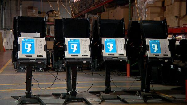 PHOTO: Election officials say new voting 'super centers' in dozens of major American cities will allow placement of dozens of ballot machines at ample social distance while creating convenience for citizens. (ABC News)