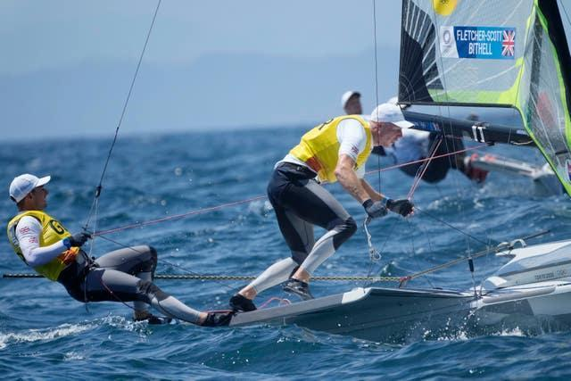 Stuart Bithell and Dylan Fletcher won gold in the 49er