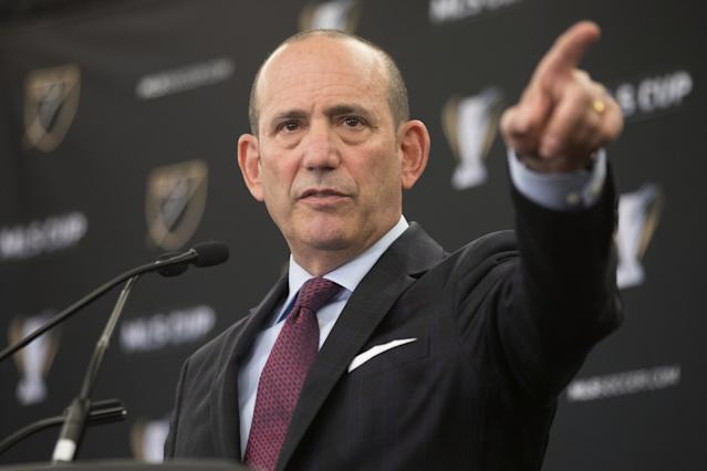 Don Garber's MLS is pointed toward rapid expansion. (The Canadian Press via AP)