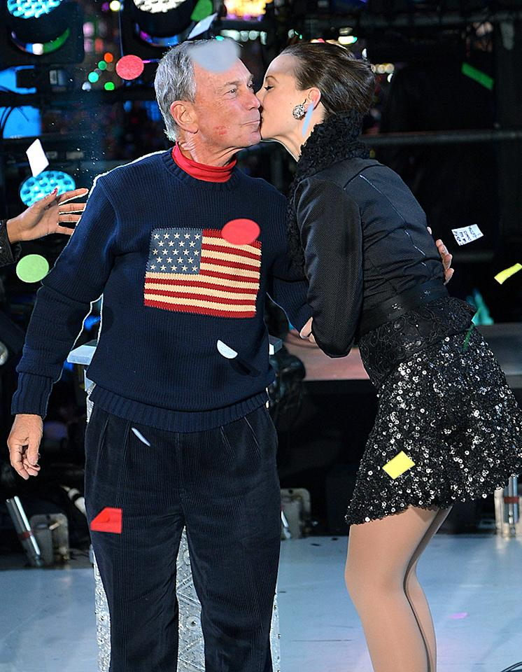 NEW YORK, NY - DECEMBER 31:  New York City Mayor Michael Bloomberg  celebrates New Year's Eve 2013 In Times Square with the Rockettes at Times Square on December 31, 2012 in New York City.  (Photo by Mike Coppola/Getty Images)