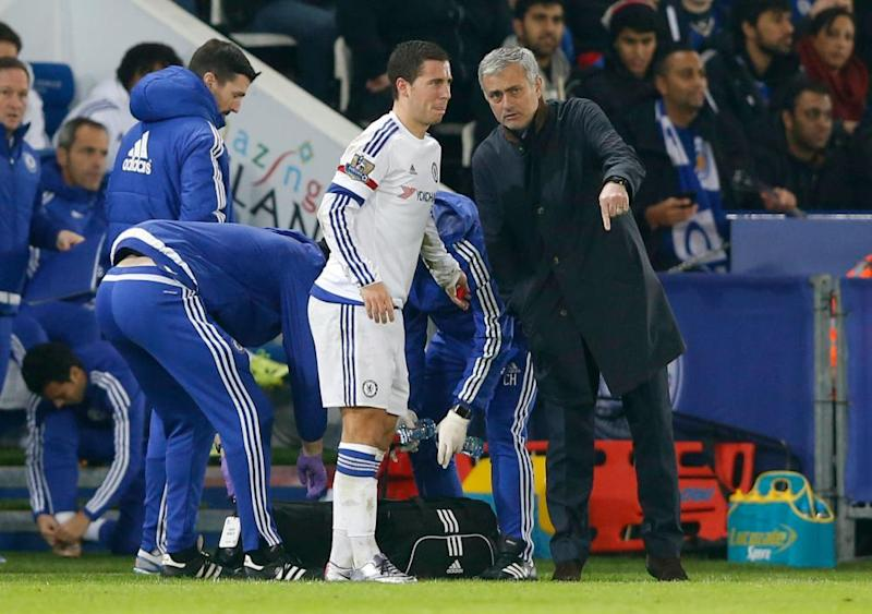 José Mourinho clearly felt Eden Hazard was not particularly badly injured against Leicester, only for the Belgian to decide within seconds that he did not fancy it and march off, ignoring his manager as he did so