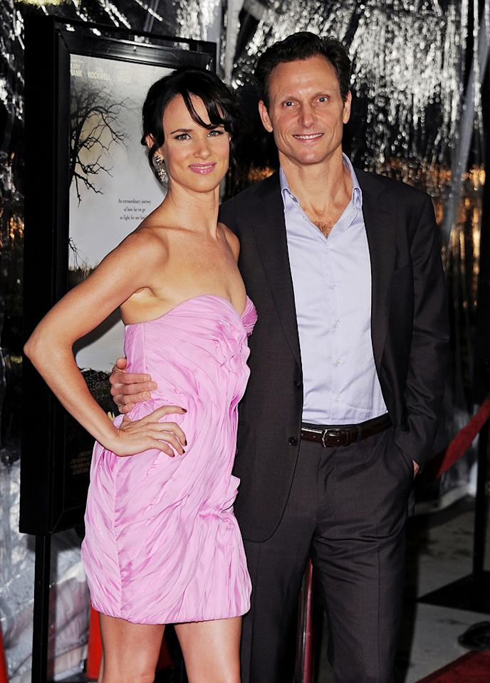 """<a href=""""http://movies.yahoo.com/movie/contributor/1800019350"""">Juliette Lewis</a> and <a href=""""http://movies.yahoo.com/movie/contributor/1800020040"""">Tony Goldwyn</a> at the Los Angeles premiere of <a href=""""http://movies.yahoo.com/movie/1810071450/info"""">Conviction</a> on October 5, 2010."""