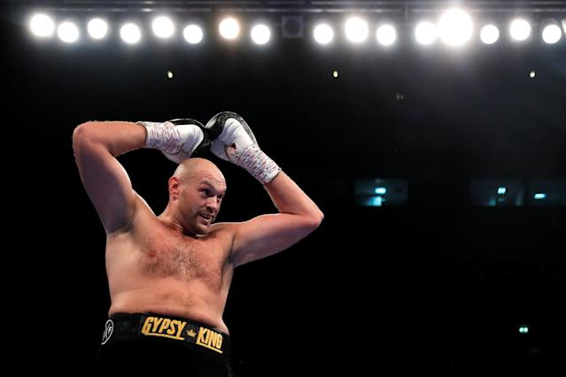 Boxing - Tyson Fury v Sefer Seferi - Manchester Arena, Manchester, Britain - June 9, 2018 Tyson Fury in action Action Images via Reuters/Andrew Couldridge
