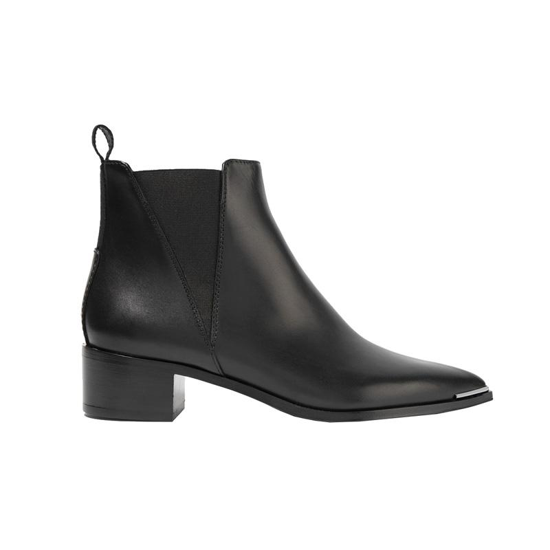 """<a rel=""""nofollow"""" href=""""http://rstyle.me/n/cab8kvjduw"""">Jensen Leather Ankle Boots, Acne Studios, $560<p>Acne's signature low-heeled style is a favorite among the fashion set thanks to its starkly simple yet elegant design. You'll keep this pair forever.</p> </a>"""