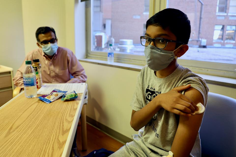 12-year-old Abhinav is one of the first children to join a COVID-19 vaccine trial. He got his shot on Oct. 22 at Cincinnati Children's Hospital, the same day as his father Sharat also joined the trial.