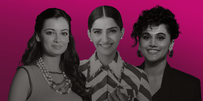 Actors Dia Mirza, Sonam Kapor, and Taapsee Pannu are among the Bollywood actors promoting awareness on menstrual health.