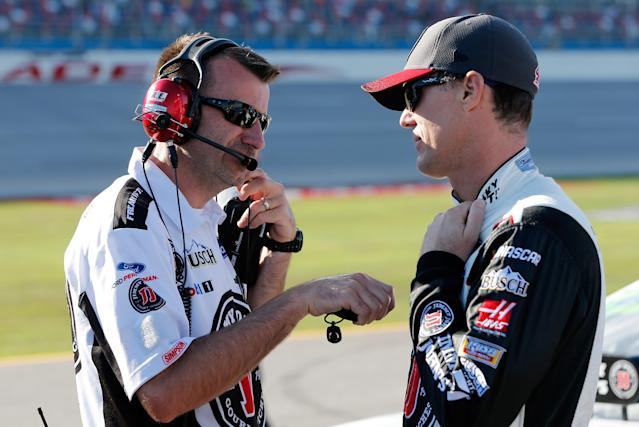 Rodney Childers has been Kevin Harvick's crew chief since they both came to Stewart-Haas Racing in 2014. (Getty)