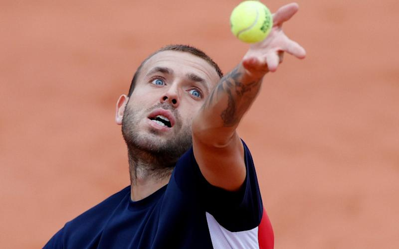 Britain's Dan Evans in action during his first round match against Japan's Kei Nishikor - Reuters