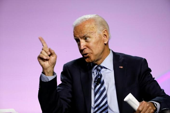 Former vice president Joe Biden leads a sprawling Democratic field of candidates hoping to challenge President Donald Trump in 2020 (AFP Photo/JEFF KOWALSKY)