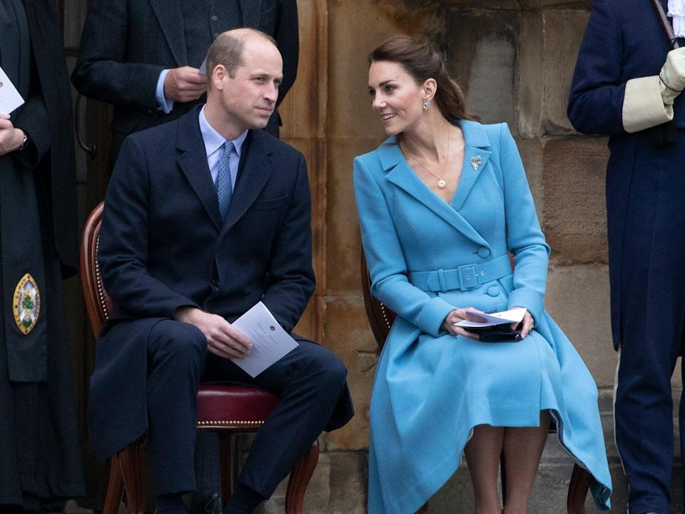 Prince William and Kate Middleton attend the  Beating of the Retreat at the Palace of Holyroodhouse on May 27, 2021  (Getty Images)