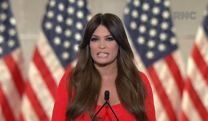 Kimberly Guilfoyle speaks during the virtual Republican National Convention on August 24, 2020. (via Reuters TV)
