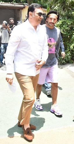 Ranveer Singh With His Father
