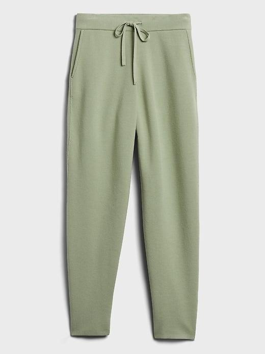 <p>The beautiful, unusual sage green color of this <span>Banana Republic Sweater Jogger</span> ($99) makes it a great addition to your loungewear wardrobe. Dress it up with a pair of loafers vs. sneakers for a more elevated athleisure look!</p>