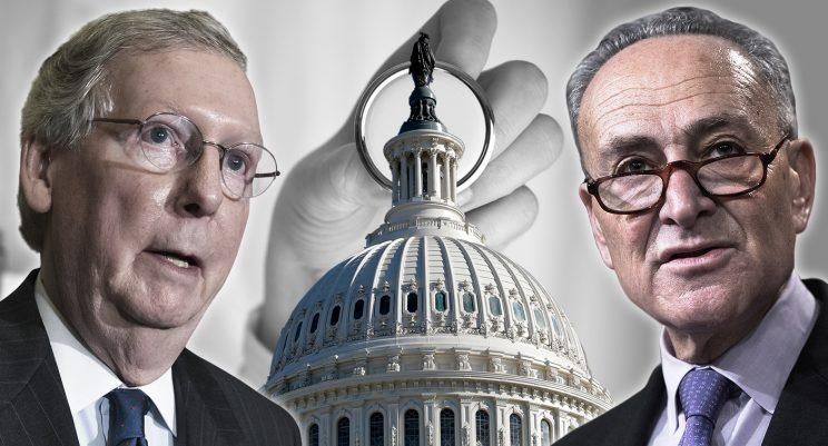 Mitch McConnell and Chuck Schumer.