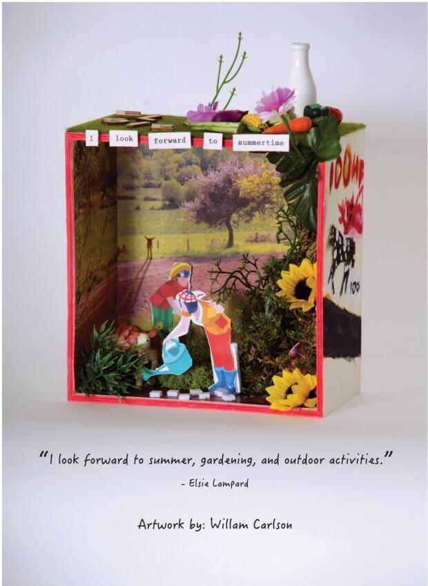 Willam Carlson said he put his heart into creating this memory box for Elsie Lampard, who shared stories about her love of gardening and living on a farm. Carlson said both he and Lampard have a love of 'dad jokes.'