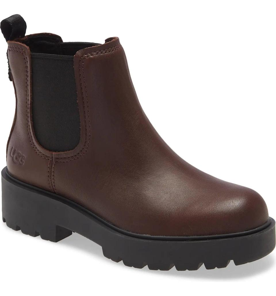 <p>The color of this <span>UGG Markstrum Waterproof Chelsea Boot</span> ($150) is a perfect modern neutral.</p>