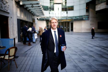 British Member of Parliament, Jo Johnson, leaves the BBC's Broadcasting House, in London, Britain November 10, 2018. REUTERS/Henry Nicholls