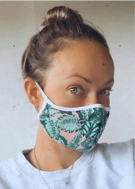 olivia wilde face mask covering