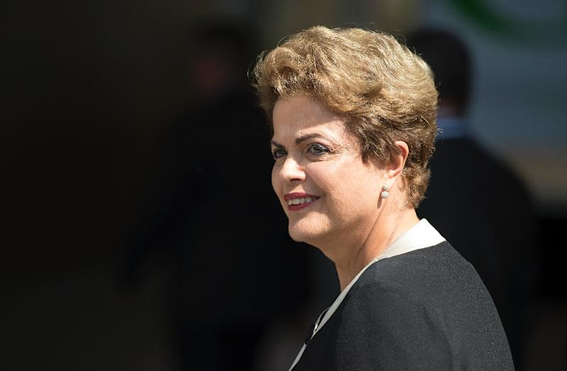 Brazil's President Dilma Rousseff, pictured on July 1, 2015, began her second term just six months ago after winning re-election by a thin margin