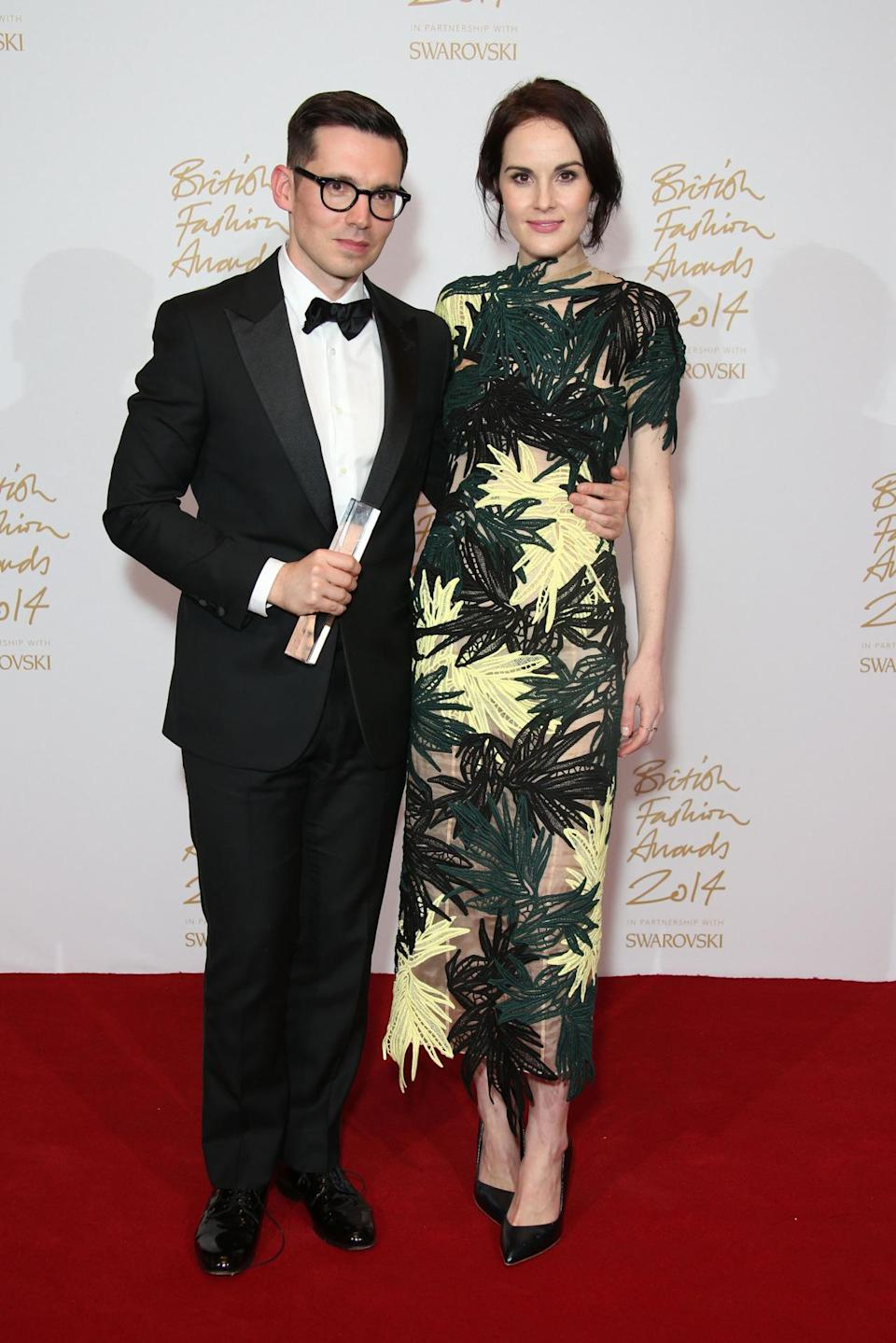 Michelle Dockery obviosuly wore Erdem to present none other than Erdem with the Womenswear Award.