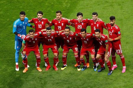 Soccer Football - World Cup - Group B - Iran vs Spain - Kazan Arena, Kazan, Russia - June 20, 2018 Iran players pose for a team group photo before the match REUTERS/John Sibley