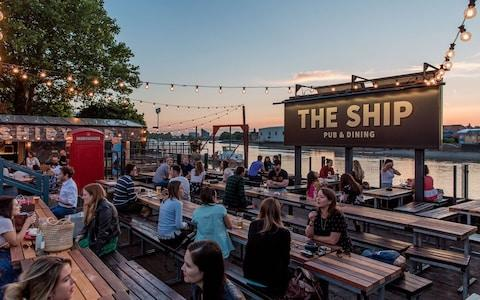 The Ship Wandsworth beer garden - Credit: The Ship