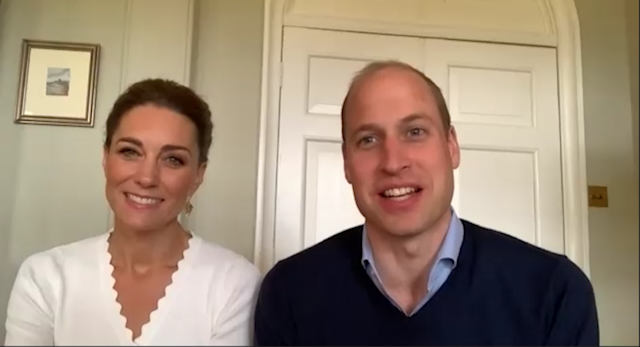 The Duchess of Cambridge joined Prince William for a video call with charity volunteers (Getty Images)