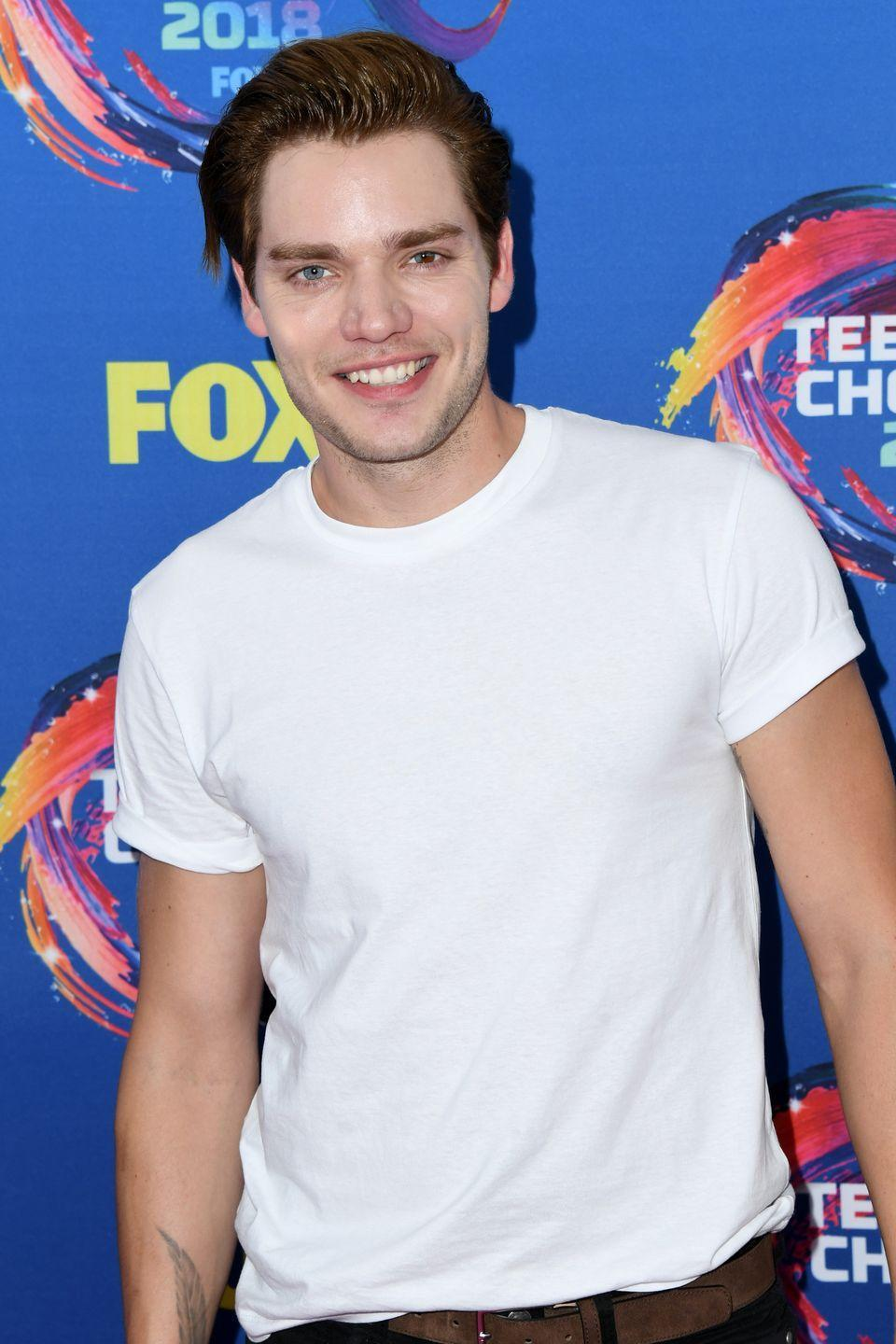 """<p>The star of Freeform's <em>Shadowhunters </em>didn't always love his half blue-half brown left eye. In April, he tweeted a message to one child who was bullied for his eye condition: """"Your eyes are beyond beautiful,"""" he <a href=""""https://twitter.com/domsherwood1/status/981533534027468800?lang=en"""" rel=""""nofollow noopener"""" target=""""_blank"""" data-ylk=""""slk:wrote"""" class=""""link rapid-noclick-resp"""">wrote</a>. """"It took me a long time to realise that about mine."""" </p>"""
