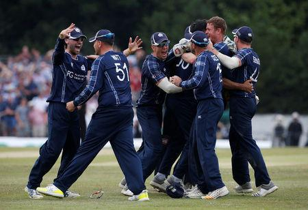 MacLeod hundred powers Scotland to record 371-5 in England ODI