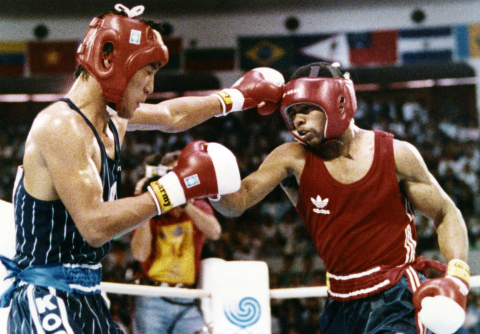 <p>In the light-middleweight gold match at the 1988 Seoul Olympics, American boxer Roy Jones Jr. dominated a South Korean Pak Si-Hun, landing some 86 punches to the Korean's 32. Despite Jones' dominance and Si-Hun not winning a single round, the judges declared the Korean the winner and he was awarded the gold. </p>