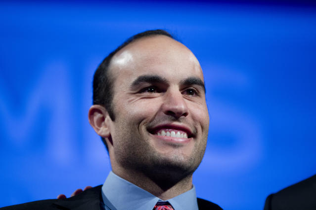 American soccer great Landon Donovan will manage the new USL team he also co-owns. (AP Photo/Matt Rourke)